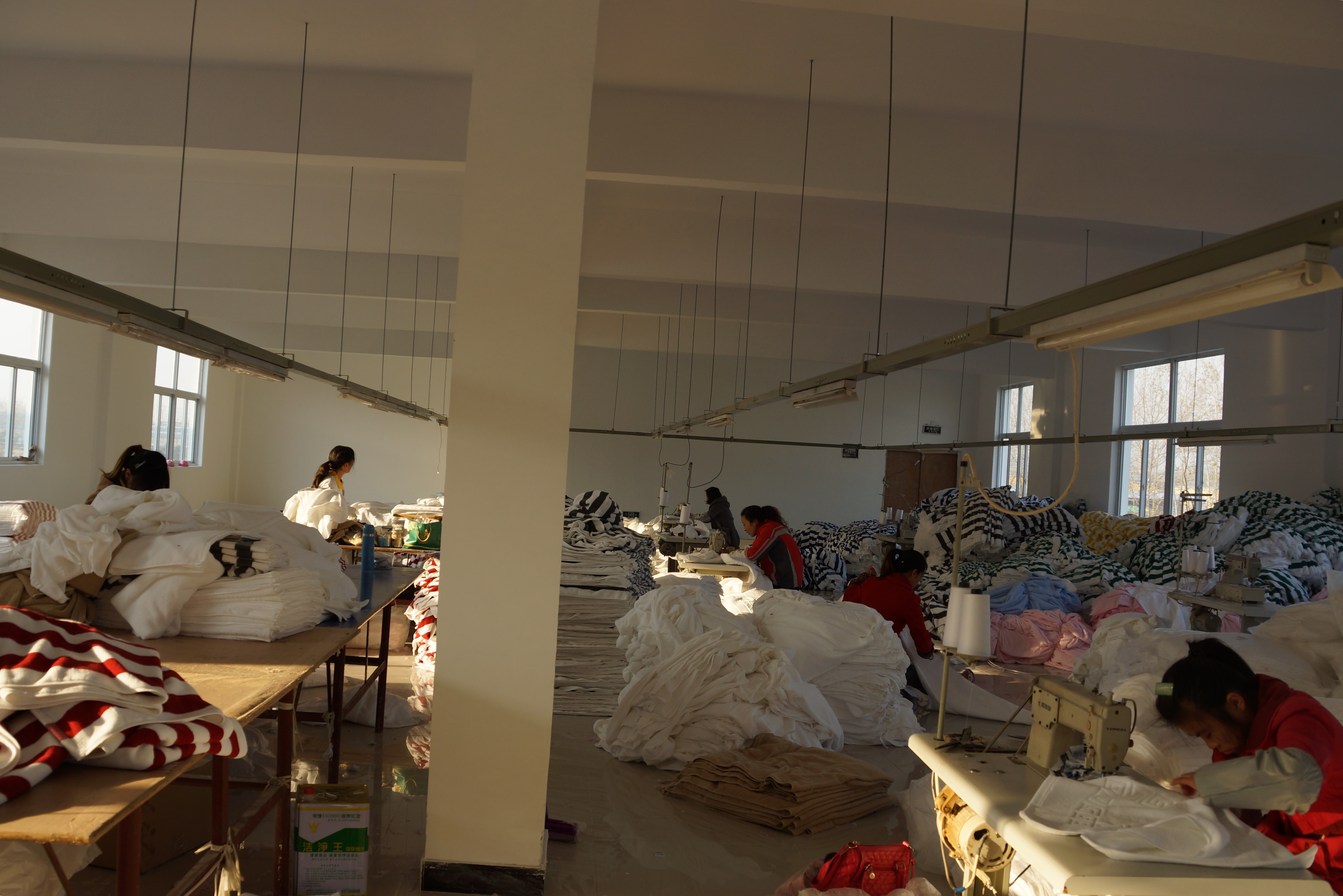 A China towel factory Picture