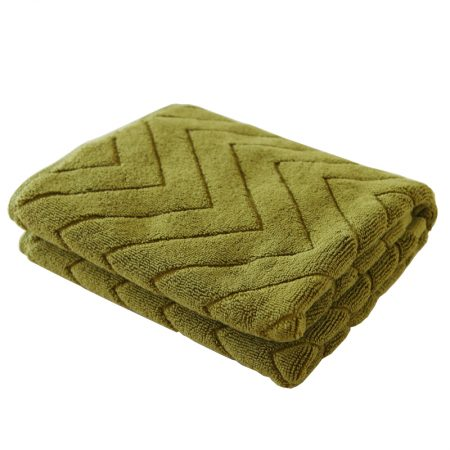 Best selling bathroom special absorbent jacquard mat-green