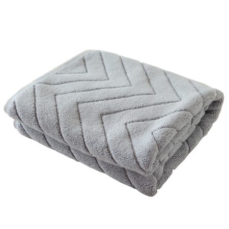 Best selling bathroom special absorbent jacquard mat-grey