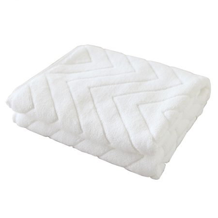 Best selling bathroom special absorbent jacquard mat-white
