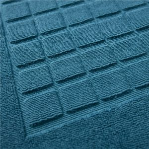 Checkered style jacquard cotton mat-detail