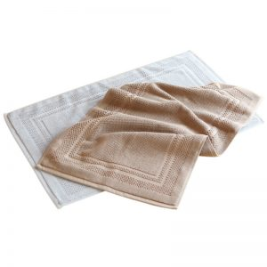 Comfortable absorbent bathroom jacquard mat