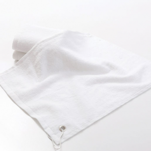 Solid White Golf Towel